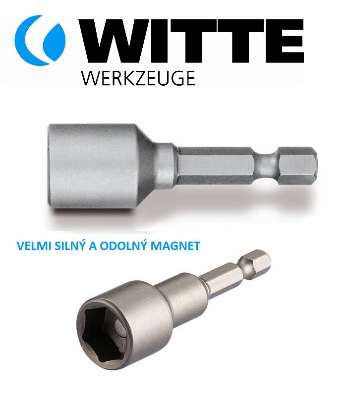 """WITTE Profi Klíč nástrčný SW13 M13 magnetický se stopkou 1/4"""" do vrtačky Nářadí 0.032Kg 26240"""