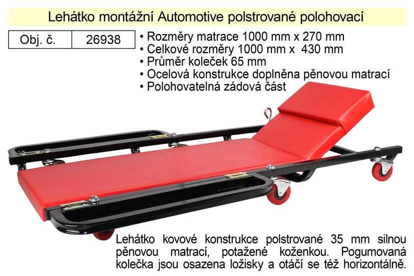 Lehátko montážní Automotive polstrované polohovací