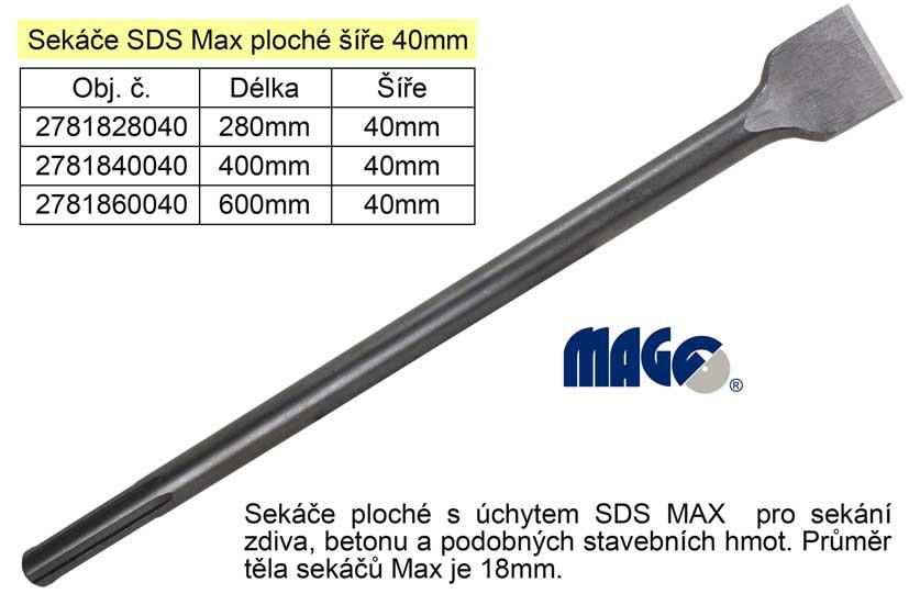 Sekáč  SDS MAX plochý 40x280mm