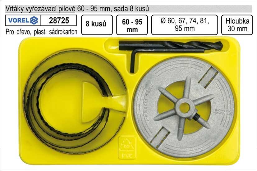 Vrtáky   vyřezávací pilové sada  8 dílů 60-95mm