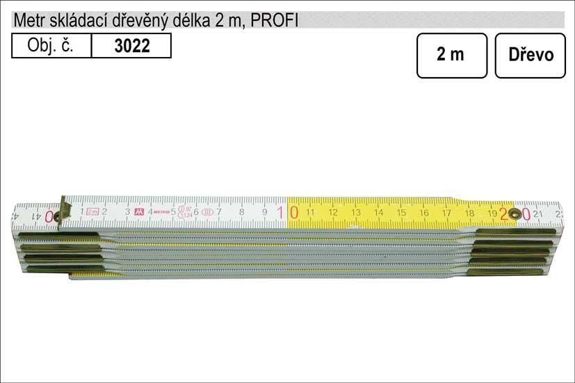 Metr skládací dřevěný Profi 2m