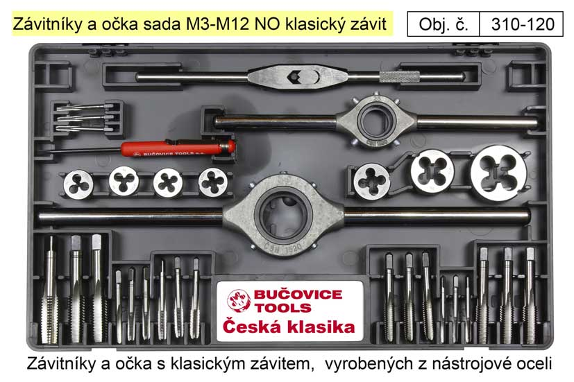 Závitníky a očka sada M3-M12 NO klasický závit, Bučovice Tools Nářadí | 0 Kg