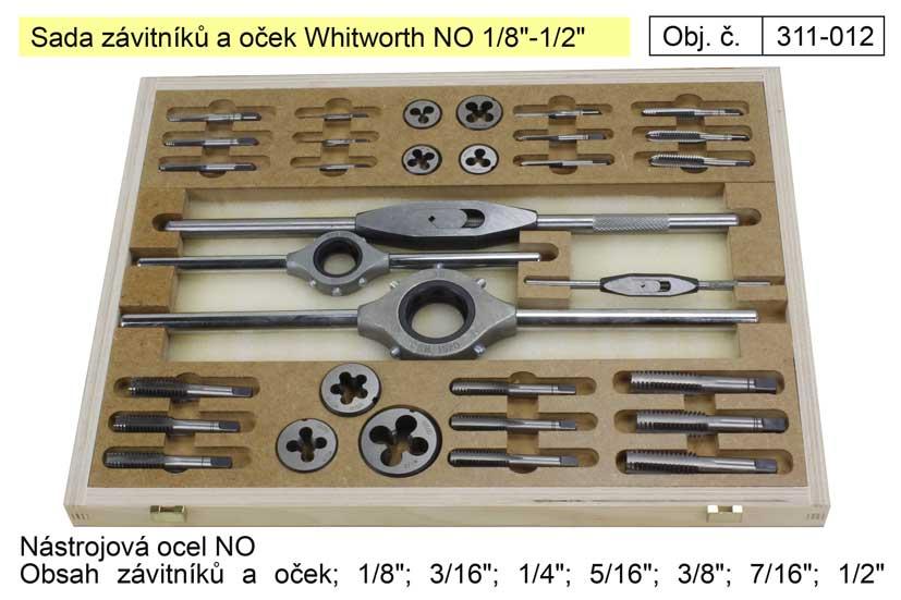 """Závitníky a očka sada Whitworth 1/8""""-1/2"""" NO, Bučovice Tools Nářadí 2Kg 311-012"""