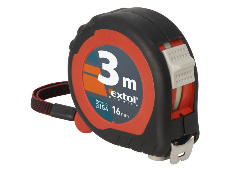 metr svinovací, 2m, š. pásku 16mm, EXTOL PREMIUM Nářadí 0.108Kg MA3152