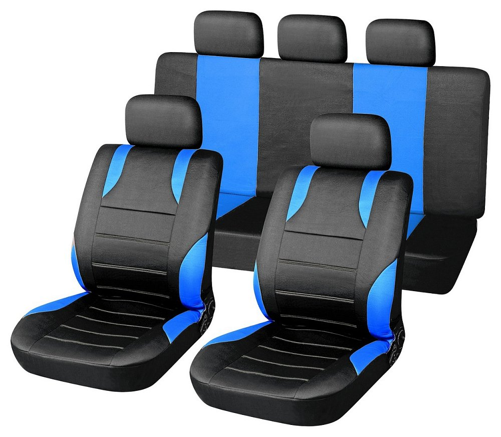 Potahy sedadel sada 9ks SPORT modré AIRBAG Nářadí | 0,9353 Kg
