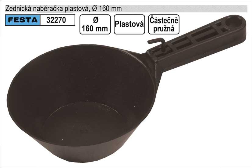 Zednická naběračka  s rukojetí  plastová pružná 160mm