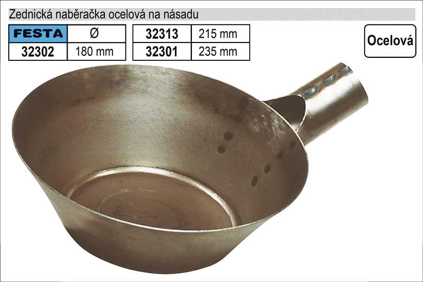 Zednická naběračka na násadu ocelová 235mm