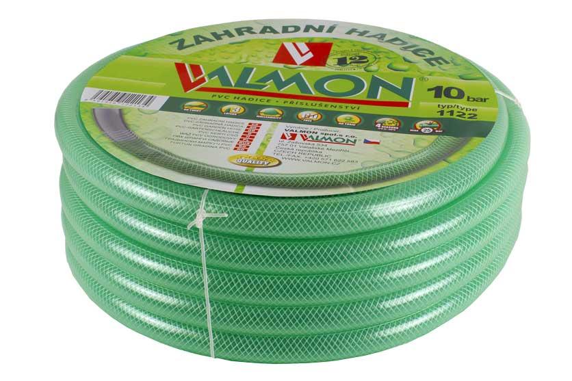 """Zahradní hadice PVC průhledná zelená 1122 Valmon 3/4"""" balení 15m"""
