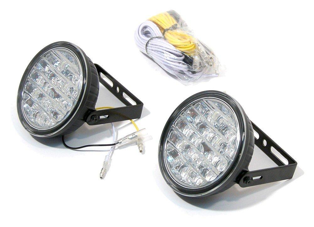 Světla denního svícení kulatá RL hom. 18LED on/off 12/24V
