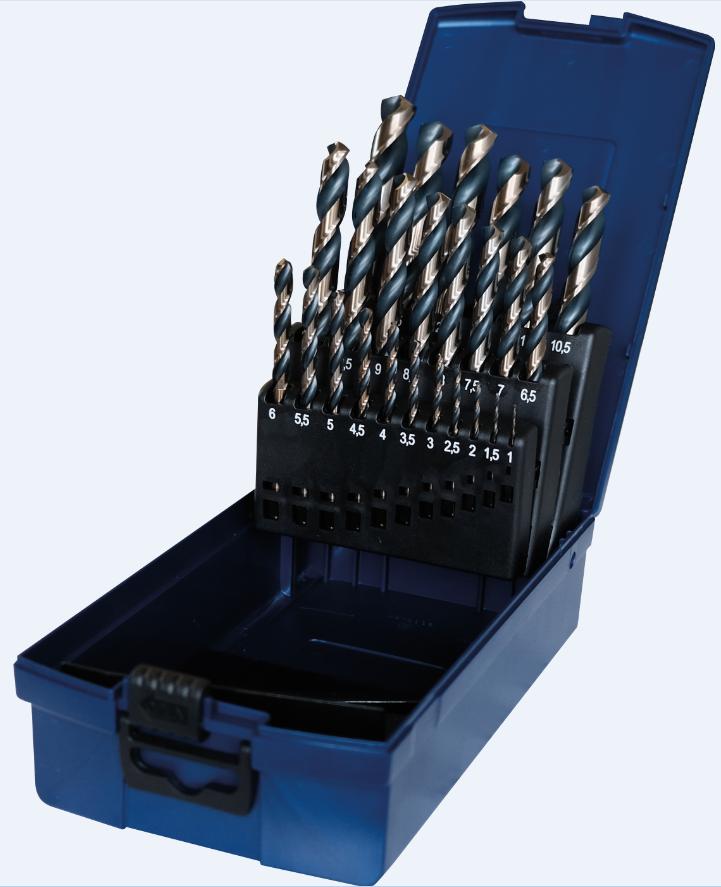 PTG RATIOLINE HSS-GK- Sada PROFI spirálových vrtáků do kovu 1-13mm 25ks, v pouzdře