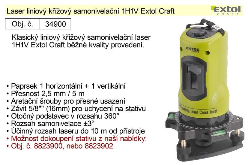 Liniový laser samonivelační Extol Craft 1H1V