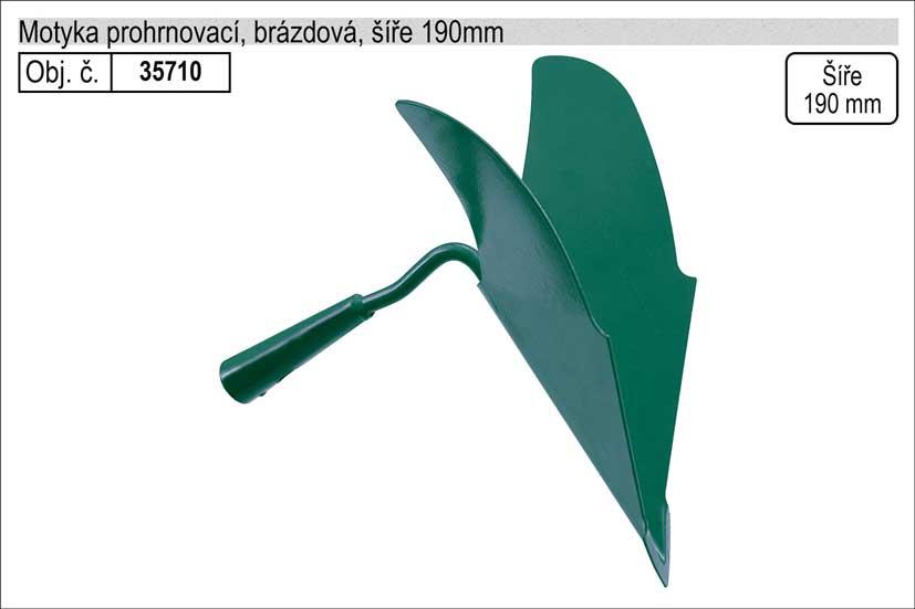 Motyka prohrnovací brázdová šíře 190mm bez násady