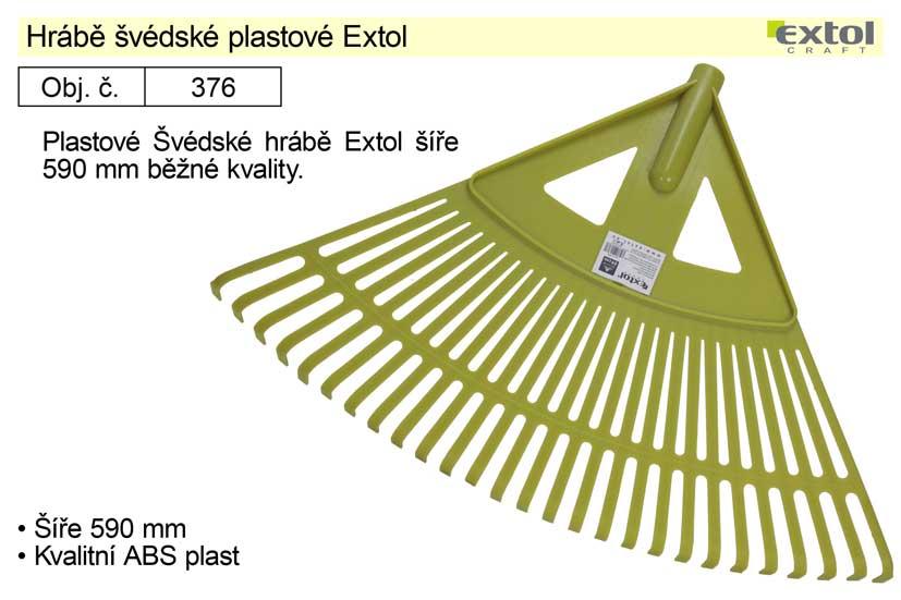 Hrábě švédské plastové Extol