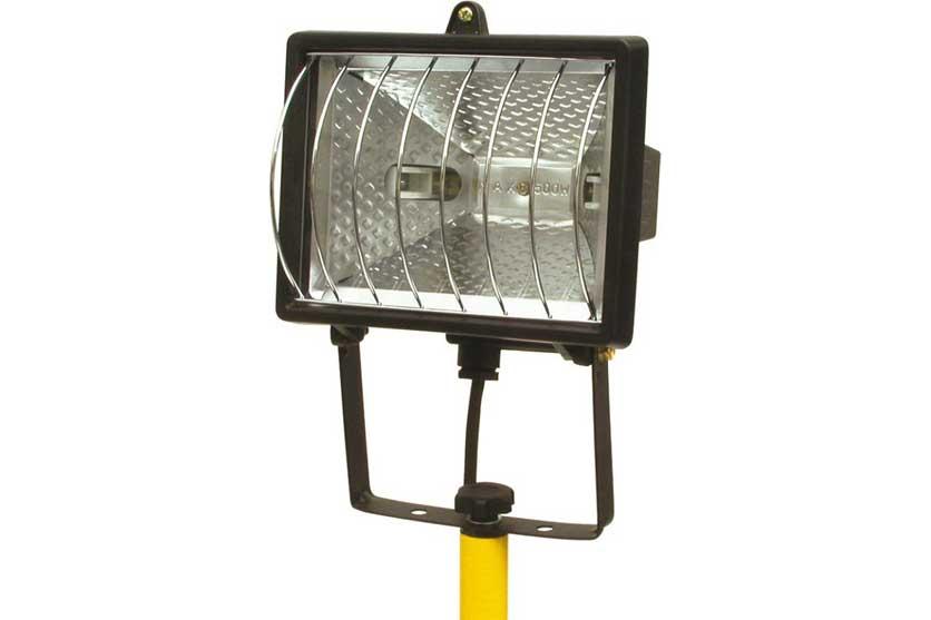 Reflektor halogenový 500 W na stojanu Tripod