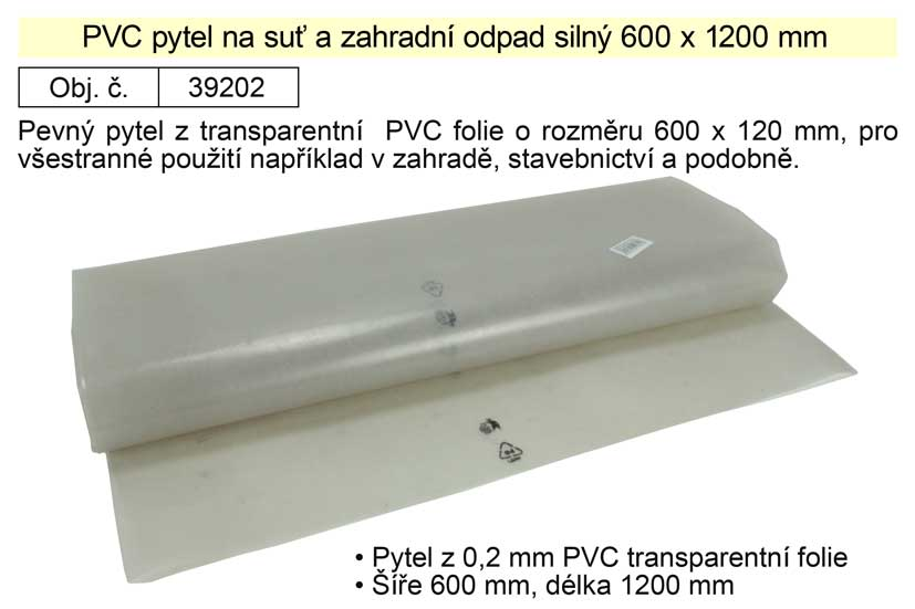 PE pytel na suť 600x1200x0,2mm