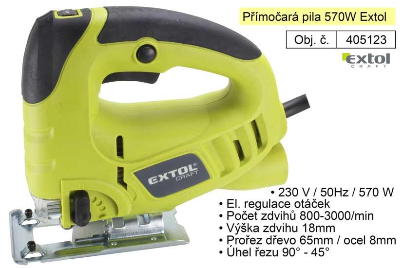 Pila přímočará 570 W  Extol 405123