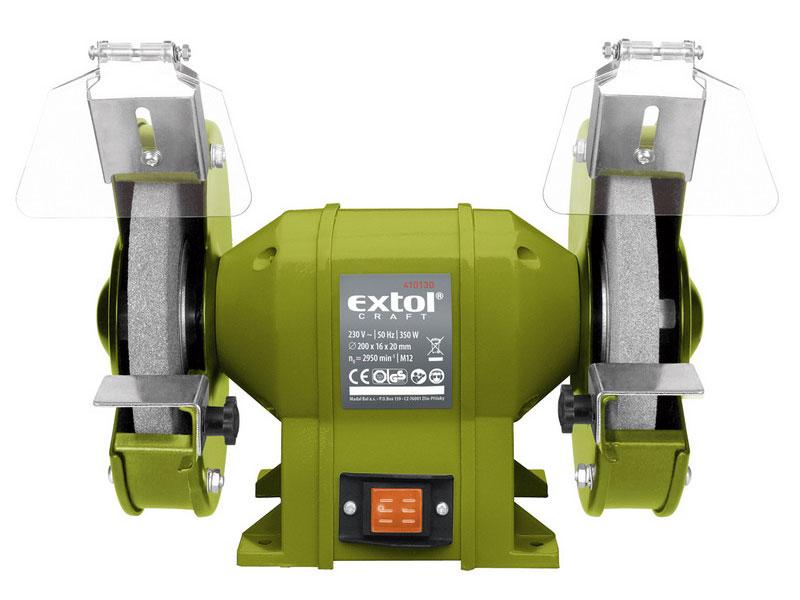 Bruska stolní dvoukotoučová, 350W, EXTOL CRAFT