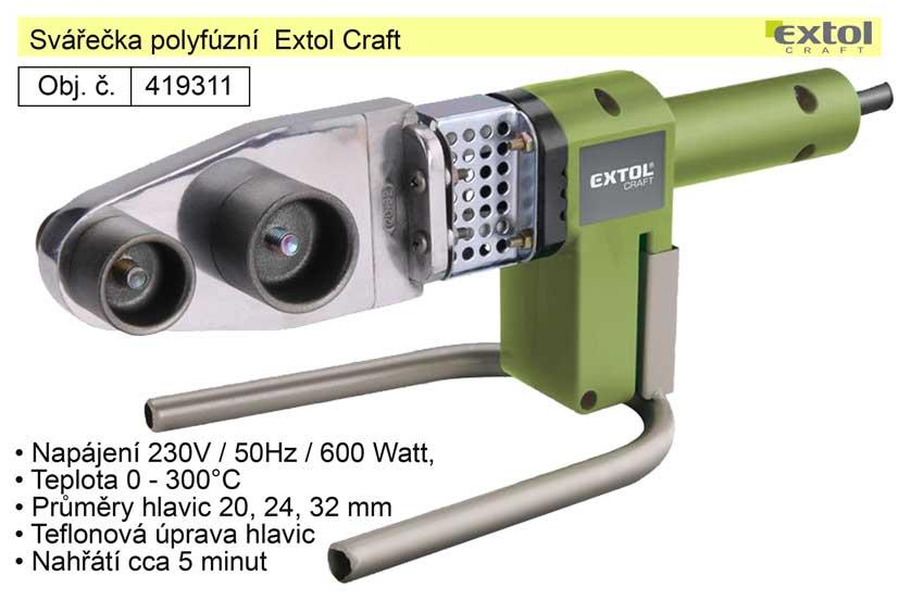 Svářečka polyfúzní Extoll Craft 419311