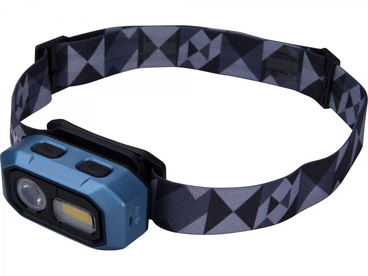 EXTOL LIGHT čelovka 480lm, nabíjecí, USB, IR čidlo, OSRAM LED+COB LED