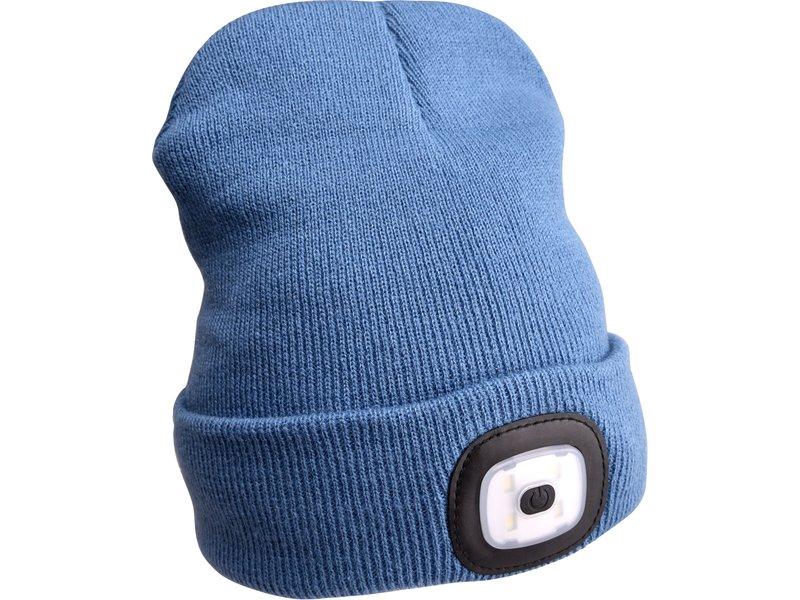 EXTOL LIGHT čepice s čelovkou 45lm, nabíjecí, USB, modrá, univerzální velikost  43191