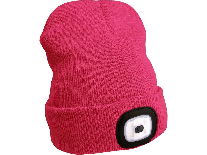 EXTOL LIGHT čepice s čelovkou, nabíjecí, USB, růžová, univerzální velikost  43193