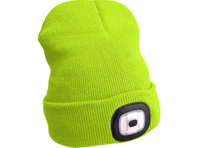 EXTOL LIGHT čepice s čelovkou, nabíjecí, USB, reflexní žlutá, univerzální velikost  43194