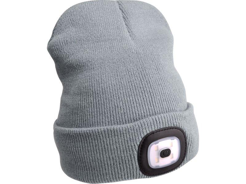 EXTOL LIGHT čepice s čelovkou, nabíjecí, USB, šedá, univerzální velikost  43195