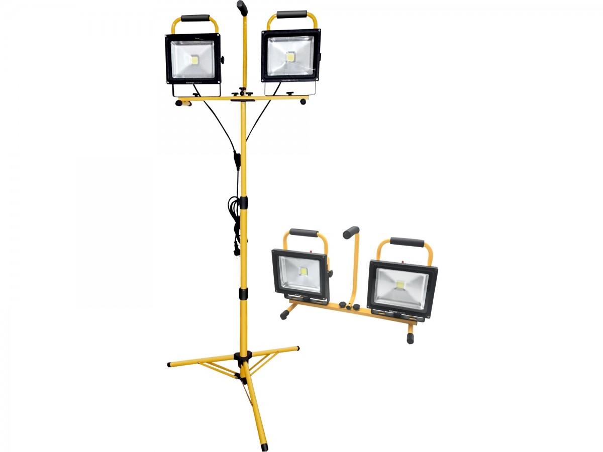 EXTOL LIGHT reflektor LED, 2x2400lm, se stojanem 168cm