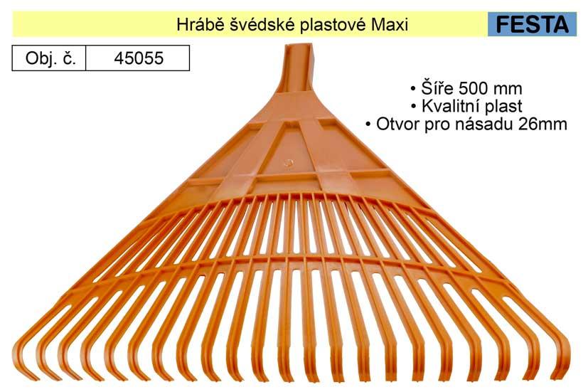 Hrábě švédské plastové Maxi Festa