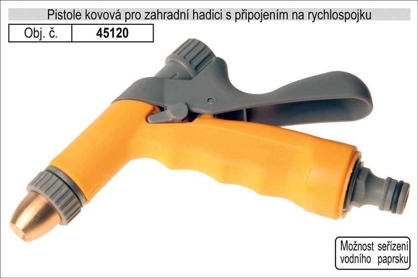 Rozstřikovač kovový pro zahradní hadici s připojením na rychlospojku Nářadí 0.276Kg 45120