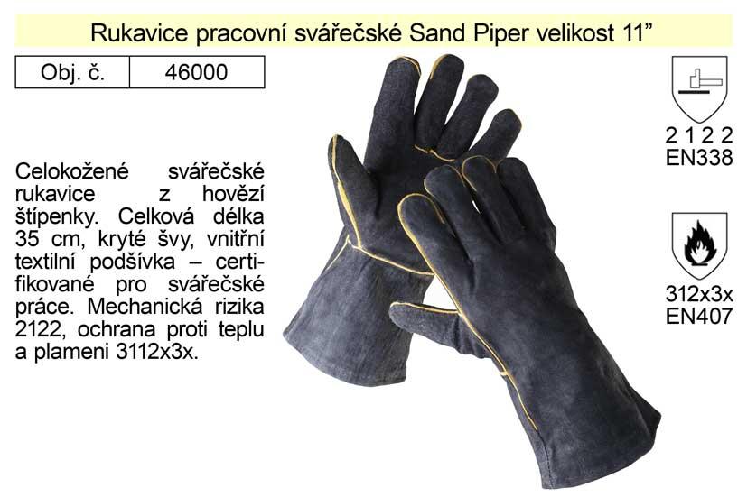 """Pracovní rukavice svářečské Sandpiper délka 35 cm velikost 11"""""""