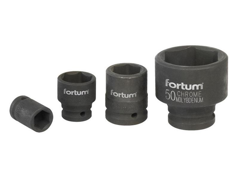 """hlavice nástrčná rázová, 3/4"""", 22mm, L 52mm, CrMoV, FORTUM"""