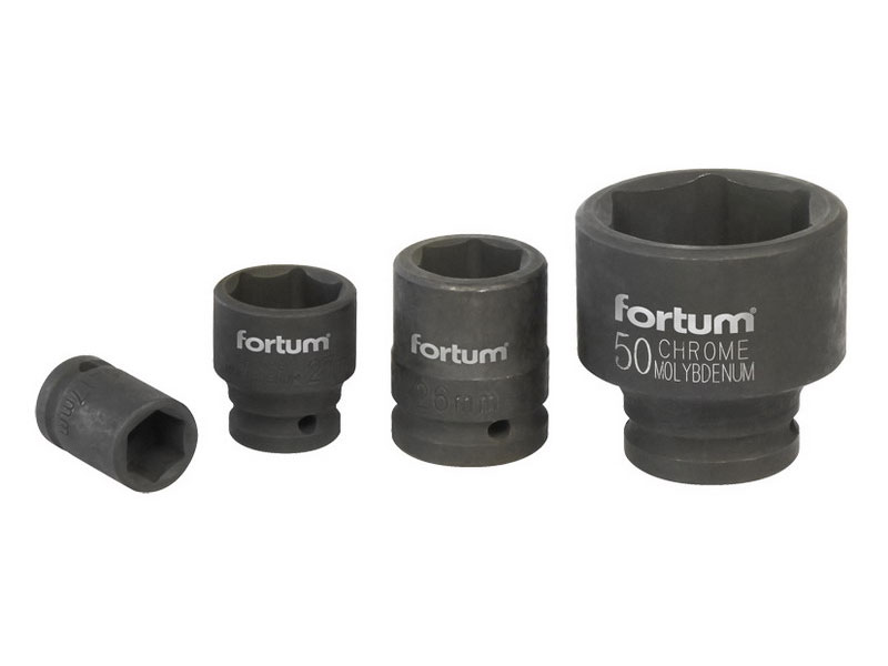 """hlavice nástrčná rázová, 3/4"""", 38mm, L 57mm, CrMoV, FORTUM"""