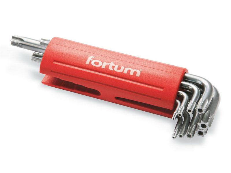 L-klíče TORX vrtané, sada 9ks, TTa 10-15-20-25-27-30-40-45-50, S2, FORTUM