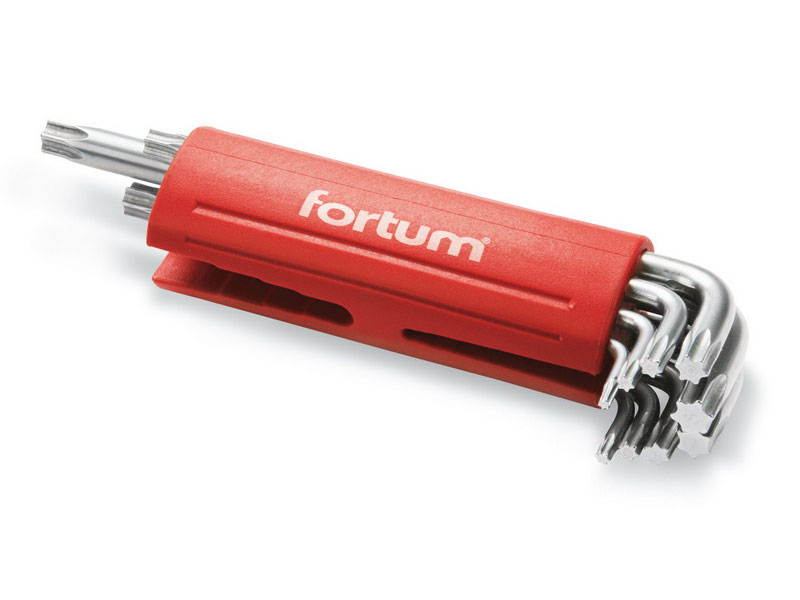 L-klíče TORX, sada 9ks, T 10-15-20-25-27-30-40-45-50, S2, FORTUM Nářadí 0.402Kg MA4710300