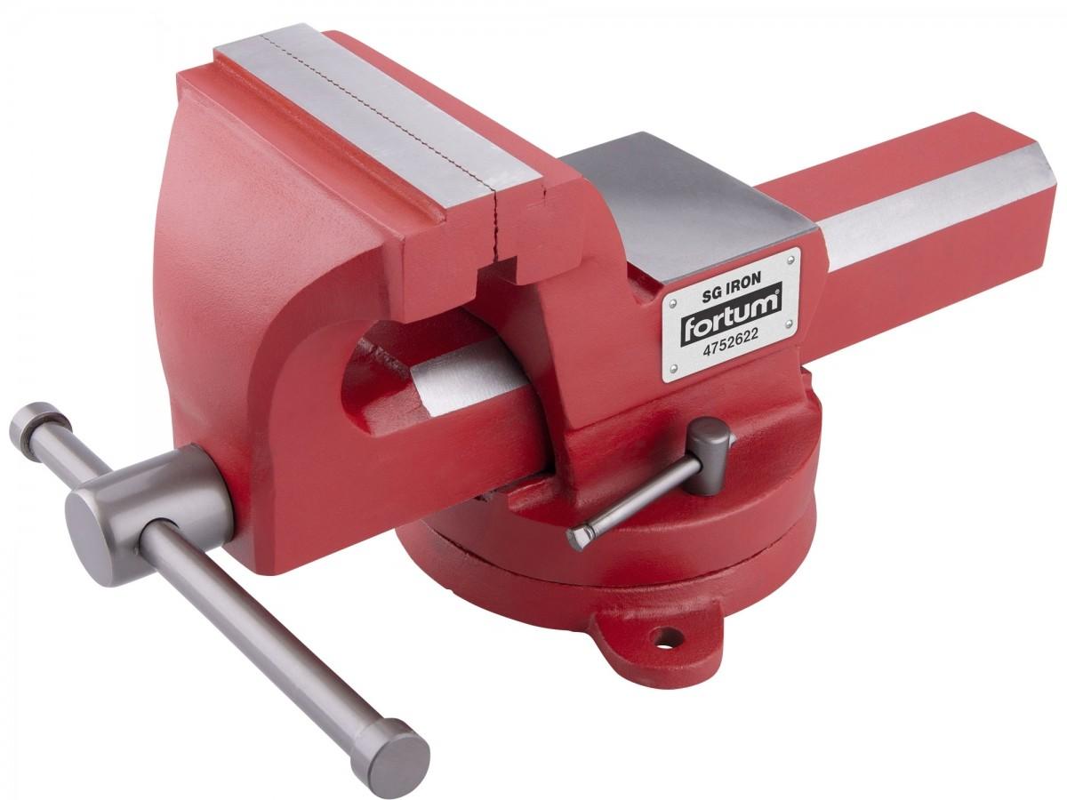 FORTUM svěrák otočný s kovadlinou, 100mm, SG Iron 4752622