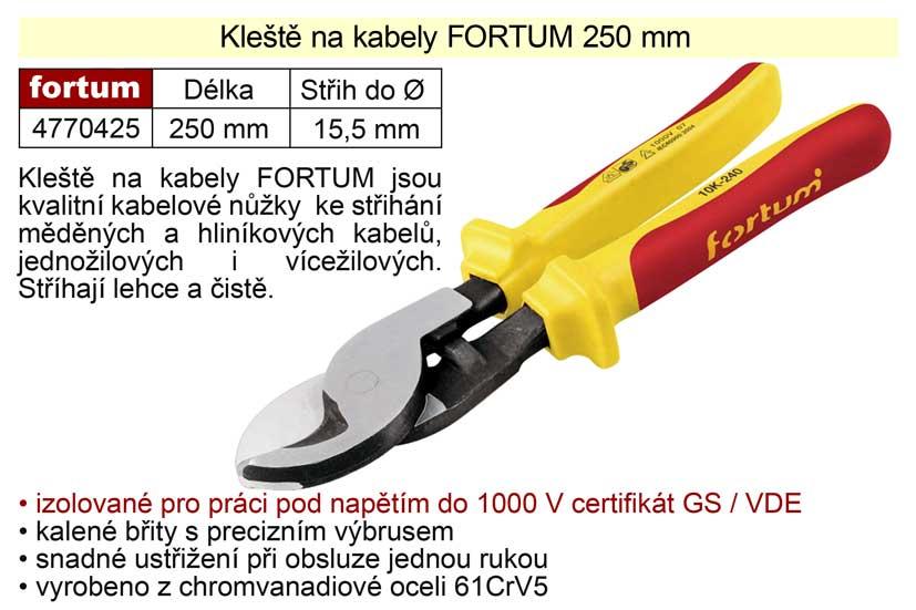 Kleště na kabely Fortum 240 mm Nářadí 0.558Kg MA4770425