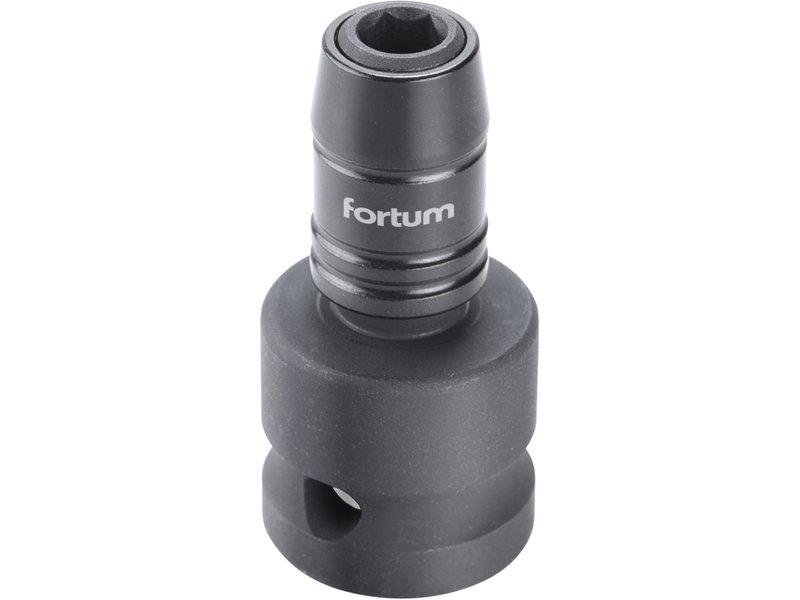 """FORTUM rázový adaptér 1/2""""čtyřhran na hroty 1/4"""", CrMoV"""