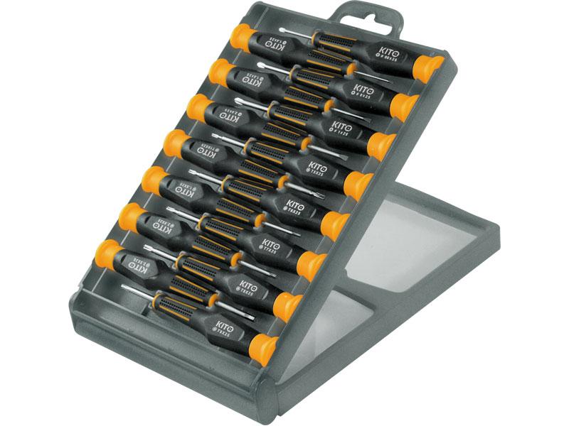 Šroubováky hodinářské, nebo pro jemnou mechaniku, sada 15 kusů, KITO