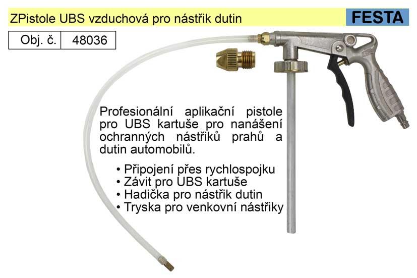 Pistole UBS vzduchová pro nástřik dutin a podvozků