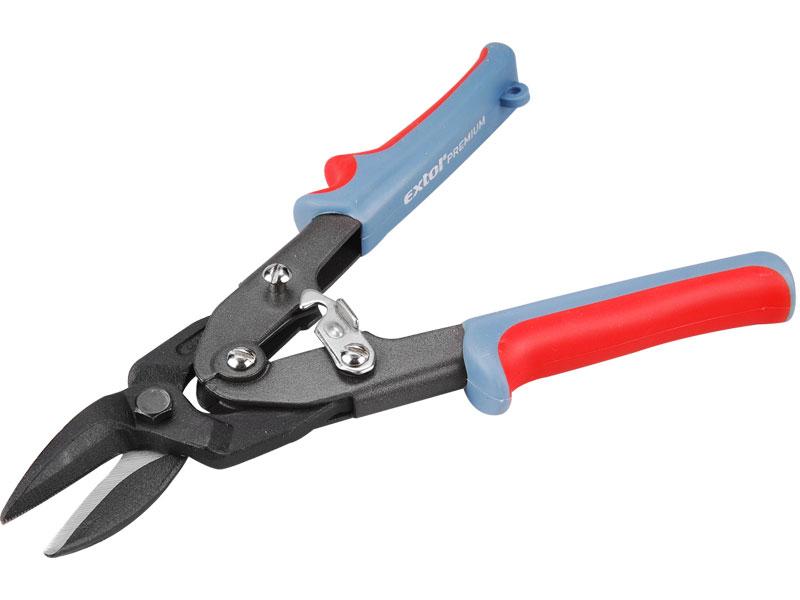 Nůžky na plech, převodové, pravé,  CrMo-V, délka 255 mm, Extol Premium