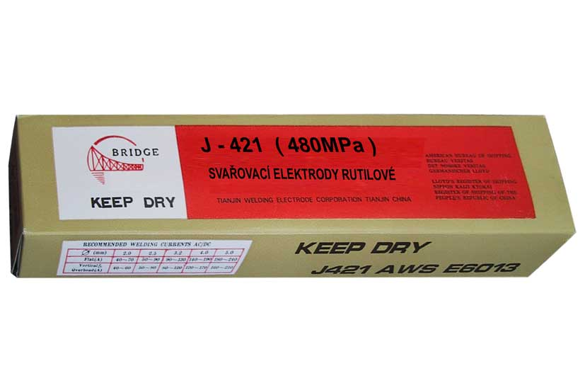 Elektrody  rutilové  2,0mm  J421 balení v krabici 2,5kg
