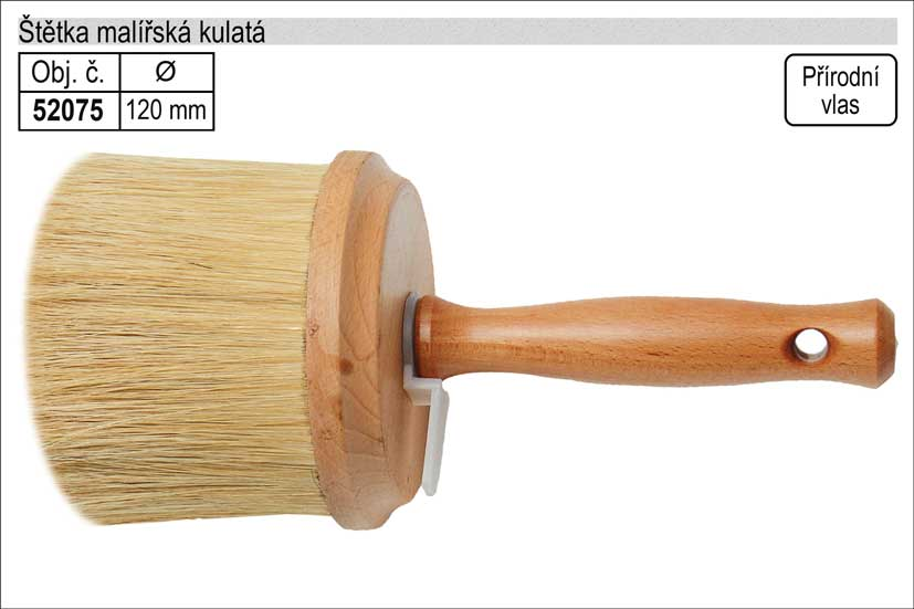 Štětka malířská kulatá 120mm