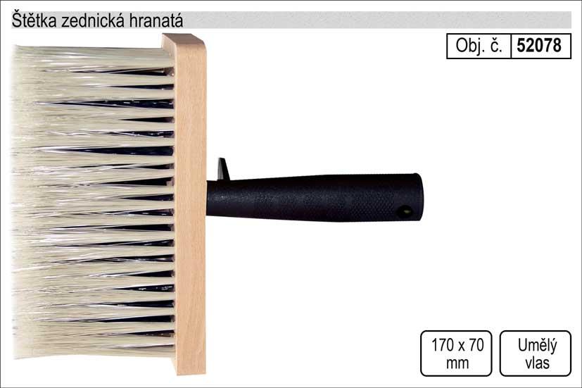 Štětka zednická hranatá 170x70mm Nářadí 0.213Kg 52078