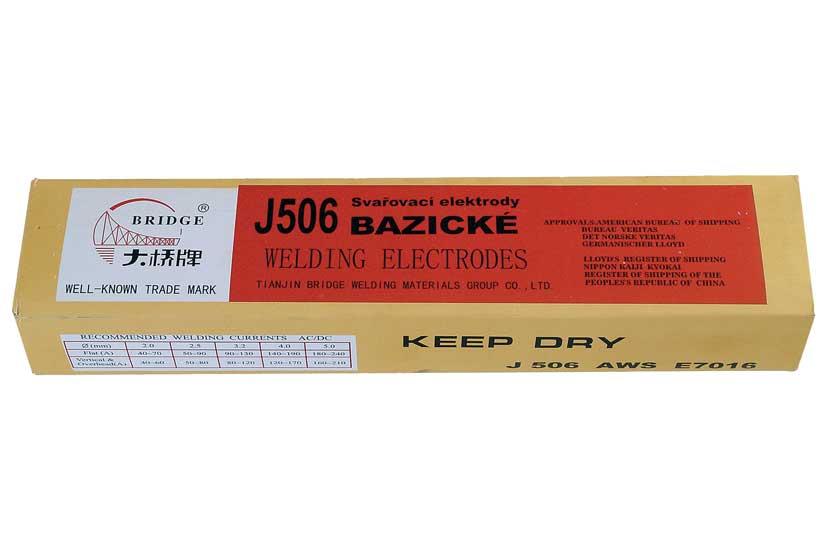Elektrody bazické  3,2mm  J506 balení v krabici 5kg