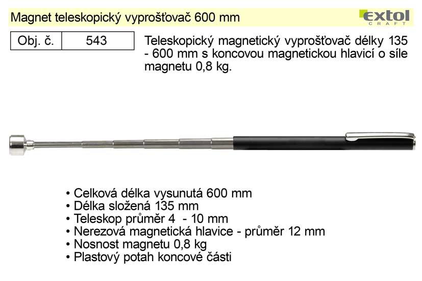 Magnet teleskopický vyprošťovač 600 mm Exto Craft