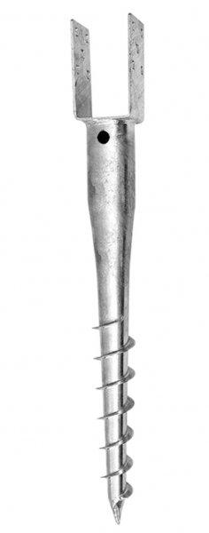 """Zemní vrut """"U"""" 81x60x100 tl. 4mm ZN"""