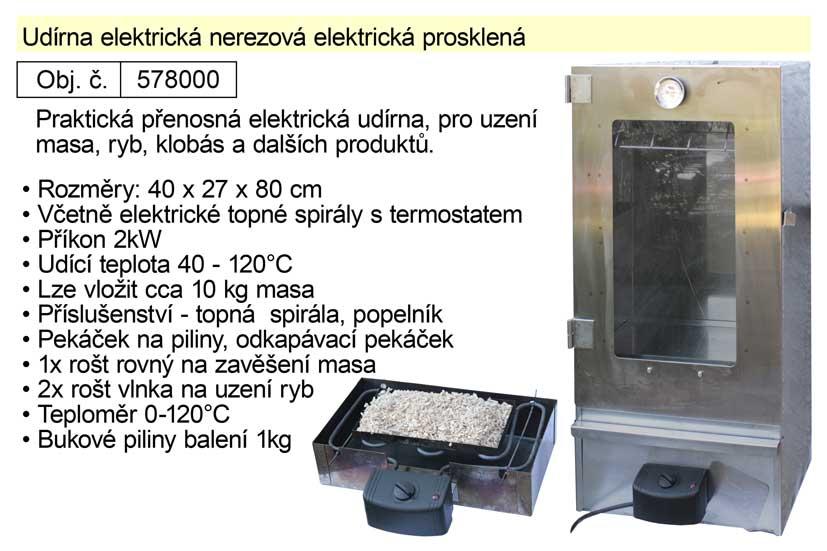 Udírna elektrická nerezová prosklená