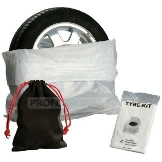 Pytle na pneumatiky 4ks + pytlík na šrouby - TYRE KIT - 0990841 Nářadí 0.5Kg AH0990841