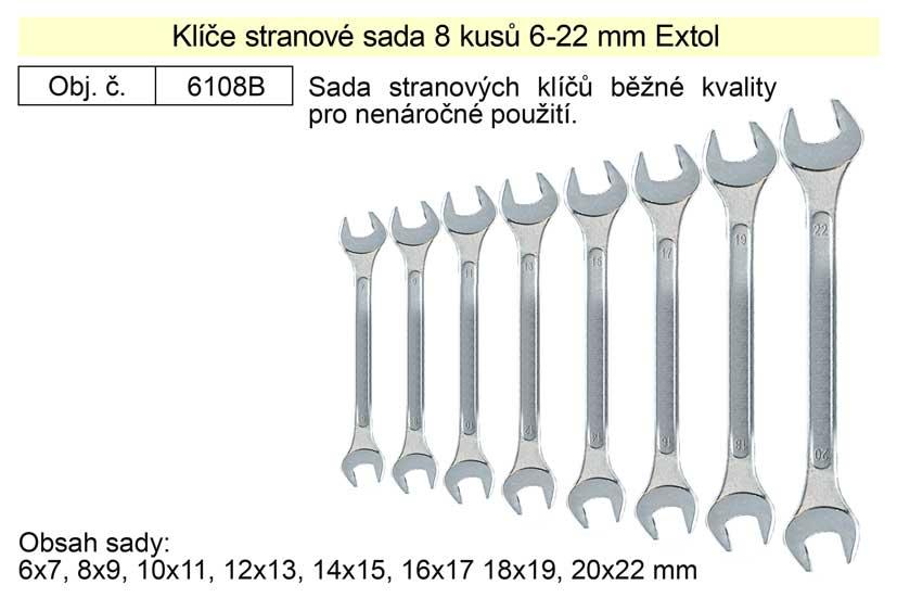 Klíče stranové sada  8 kusů 6-22mm W.S
